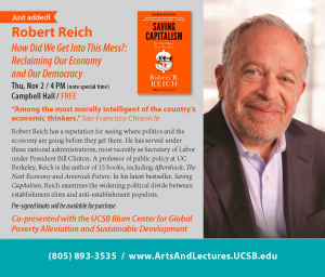 Arts and Lectures program text of Reich talk