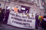 """Picture of a """"Day Without Immigrants"""" rally on February 16, 2017"""